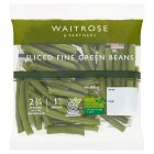 Waitrose ready sliced fine green beans - 100g