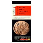 Waitrose 1 Belgian triple chocolate biscuits - 125g