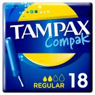 Tampax Compak Regular Tampon Single 20PK - 20s Brand Price Match - Checked Tesco.com 20/08/2014