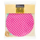 Waitrose Cooks' Homebaking jam jar covers - 20s