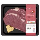 Waitrose British beef ribeye steak with pink peppercorn butter - 350g