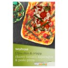 Waitrose ultra thin & crispy cherry tomato, asparagus & pesto pizza - 250g