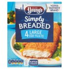 Young's 4 large cod fillets in breadcrumbs - 480g