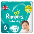 Pampers baby-dry 6 extra large 15+ kg - 33s