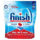 Finish All in One Max Power & Pure Dishwasher Tablets, x56 - 1041g