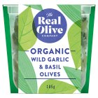 The Real Olive Co. Wild Garlic & Basil Olives - 185g