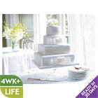 Fiona Cairns 4-tier Ribboned Wedding Cake (Fruit) - each