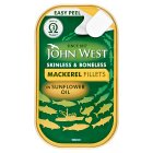 John West mackerel fillets in sunflower oil - 125g Brand Price Match - Checked Tesco.com 27/08/2014