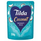 Tilda steamed coconut basmati rice - 250g Brand Price Match - Checked Tesco.com 21/04/2014