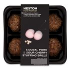 Heston from Waitrose 6 duck pork & cherry stuffing balls - 276g