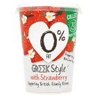 Yeo Valley 0% fat Greek style strawberry yogurt - 450g New Line