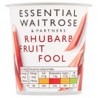 Waitrose rhubarb fruit fool - 120g