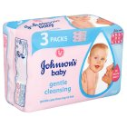 Johnson's baby wipes gentle cleansing - 168s Brand Price Match - Checked Tesco.com 16/07/2014