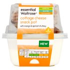 essential Waitrose cottage cheese snack pot mango & apricot - 200g