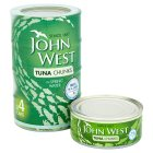 John West tuna chunks in spring water, 4 pack - drained 4x112g