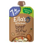 Ella's Kitchen Organic wonderfully warming beef stew with spuds - stage 2 baby food - 130g