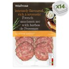 Waitrose French saucisson sec with herb 14 slices - 70g