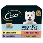 Cesar senior 10+ varieties in jelly - 4x150g Brand Price Match - Checked Tesco.com 28/05/2015