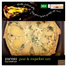 Menu from Waitrose pear & roquefort tart - 550g