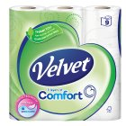 Triple Velvet soft toilet tissue, pure white - 9 rolls - 9s