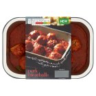 menu from Waitrose succulent pork meatballs - 480g New Line