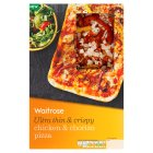 Waitrose ultra thin& crispy chicken & chorizo pizza - 235g
