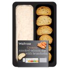 Waitrose smoked salmon dip with bruschetta - 240g