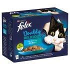 PURINA® FELIX® As Good As It Looks Doubly Delicious Adult Cat Fish Selection in Jelly Wet Cat Pouch - 12x100g