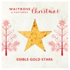 Waitrose Christmas edible gold stars -