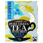 Clipper Fairtrade pure green tea with mint 10s - 25g