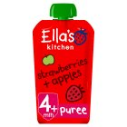 Ella's kitchen organic strawberries & apples baby food, stage 1