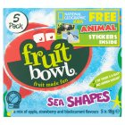 Fruit Bowl Sea Fruit Shapes 5 pack - 5x18g