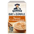Quaker Oats So Simple sweet cinnamon porridge cereal sachets - 330g Brand Price Match - Checked Tesco.com 10/02/2016