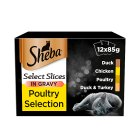 Sheba Select Slices Poultry Selection Pouches - 12x85g