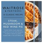Waitrose steak, mushroom & red wine pie - 550g