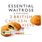 essential Waitrose 2 Frozen British chicken garlic kievs
