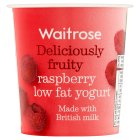 Waitrose deliciously fruity raspberry low fat yogurt - 150g