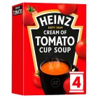 Heinz cream of tomato cup soup - 4x22g