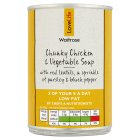 Waitrose chunky chicken & vegetable soup - 400g
