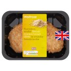 Waitrose 2 British crunchy breaded chicken breast fillets