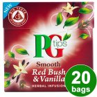 PG Tips smooth red bush & vanilla 20 bags - 40g