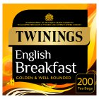 Twinings English breakfast 200 tea bags - 500g Brand Price Match - Checked Tesco.com 10/09/2014