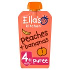 Ella's Kitchen Organic peaches & bananas - stage 1 baby food - 120g Brand Price Match - Checked Tesco.com 16/07/2014