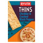 Ryvita Thins cheddar cheese & black pepper - 125g Brand Price Match - Checked Tesco.com 16/04/2014