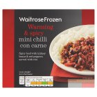 Waitrose Frozen mini chilli con carne - 250g