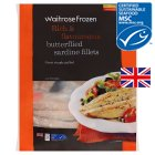 Waitrose MSC frozen cornish sardine fillets - 380g