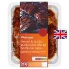 Waitrose Hickory BBQ mini pork ribs - 500g