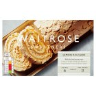Waitrose frozen lemon meringue roulade - 420g