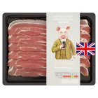 Heston from Waitrose 6 British Outdoor Bred syrup and stout streaky bacon rashers - 200g