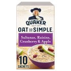 Quaker Oat So Simple sultana, raisin, cranberry, apple porridge 10S - 385g Brand Price Match - Checked Tesco.com 30/07/2014